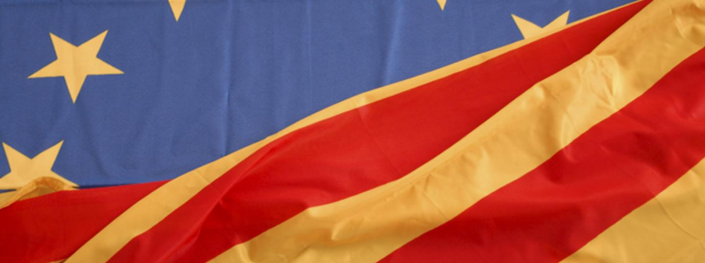 bandera europa i Catalunya