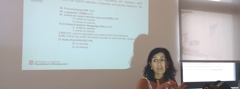 Carmina Pinya, a la presentació del curs el 8 de setembre a Mataró.