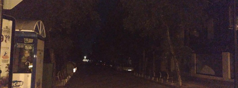 Avinguda Jaume Recoder a les fosques, ahir al vespre. Foto: F.A.