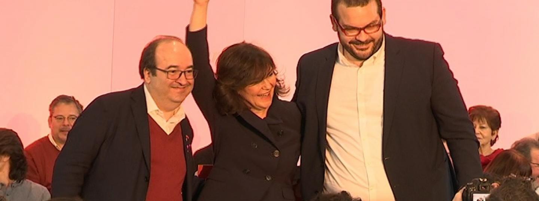 Miquel Iceta, Carmen Calvo, David Bote