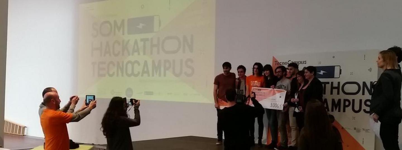 foto: Tcm. Els guanyadors del Hackathon de l'any passat