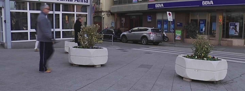 Jardineres de seguretat al centre de Mataró