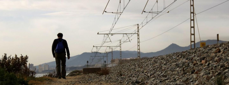 Vies a l'alçada de Sant Andreu de Llavaneres. Foto: ACN