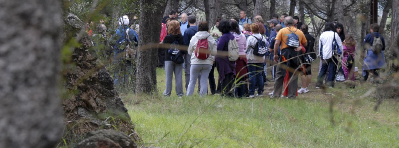 Grup de persones fent senderisme