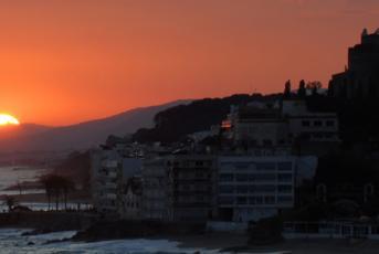 Posta de sol a la costa