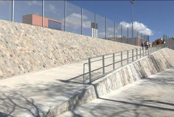 Fotograma del nou tancament de la Zona Esportiva Municipal de Cerdanyola