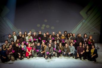 Foto de família del la XXIII edició dels Premis Butaca. Foto: premisbutaca.cat