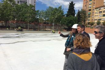Visita del regidor d'Educació, Miquel Àngel Vadell a les obres de l'escola Camí del Mig. Foto: Ajuntament de Mataró