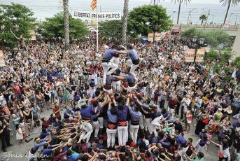 Els Capgrossos de Mataró durant l'actuació a Vilassar de Mar