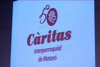 Cartell 50 anys Càritas Interparroquial de Mataró