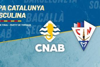 Imatge promocional del partit @CNAB_oficial