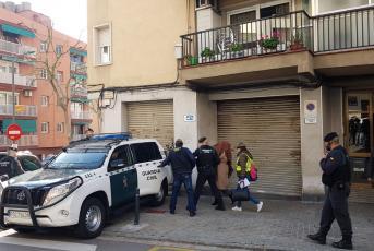 Moment de la detenció dimecres al matí a Cerdanyola. Foto: S.R.