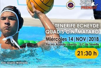 Cartell del partit que es juga aquesta nit a Tenerife