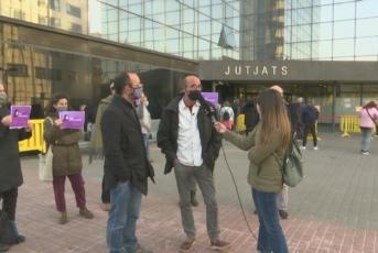 Imatge de Juan Jubany davant els Jutjats