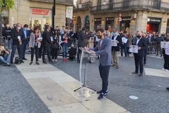Concentració àmbit esportiu a la Plaça Sant Jaume de Barcelona