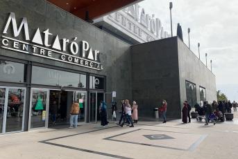 Imatge de l'entrada a Mataró Parc