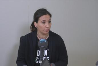 """Olga Ortiz durant la seva intervenció al programa """"El Mirador"""" de Mataró Audiovisual"""