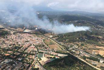 Imatge general de l'incendi