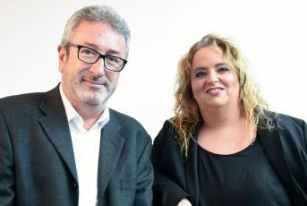 Pep Andreu i Cristina Salad