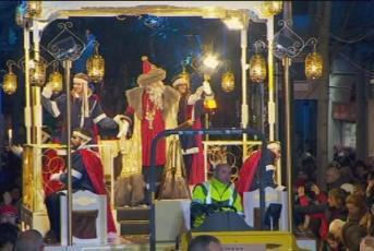 Un moment de la Cavalcada de Reis a Mataró